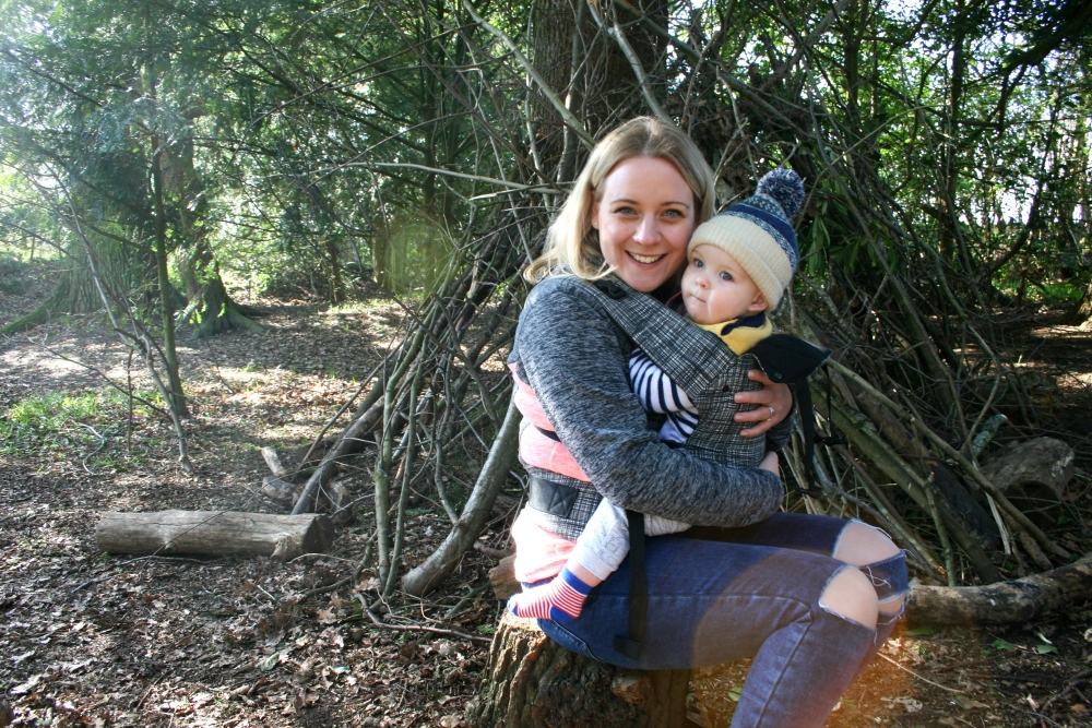 Beco Gemini Baby Carrier at National Trust, sat down
