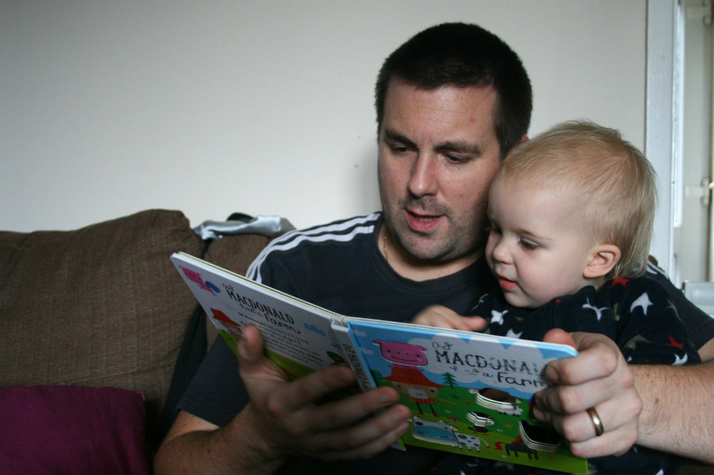 Farmyard Animals Book Reading with Daddy