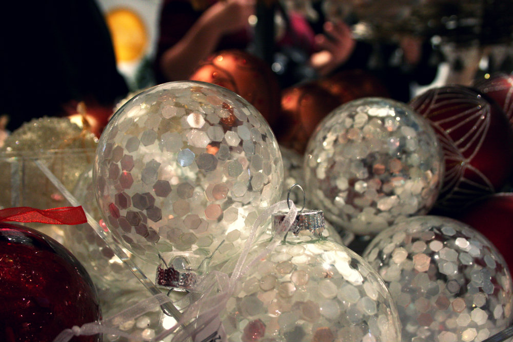 Glitter Baubles from John Lewis