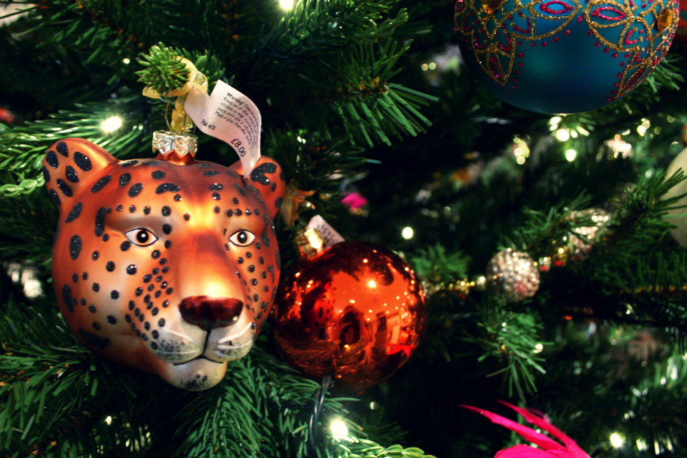 Tiger Themed Baubles from John Lewis