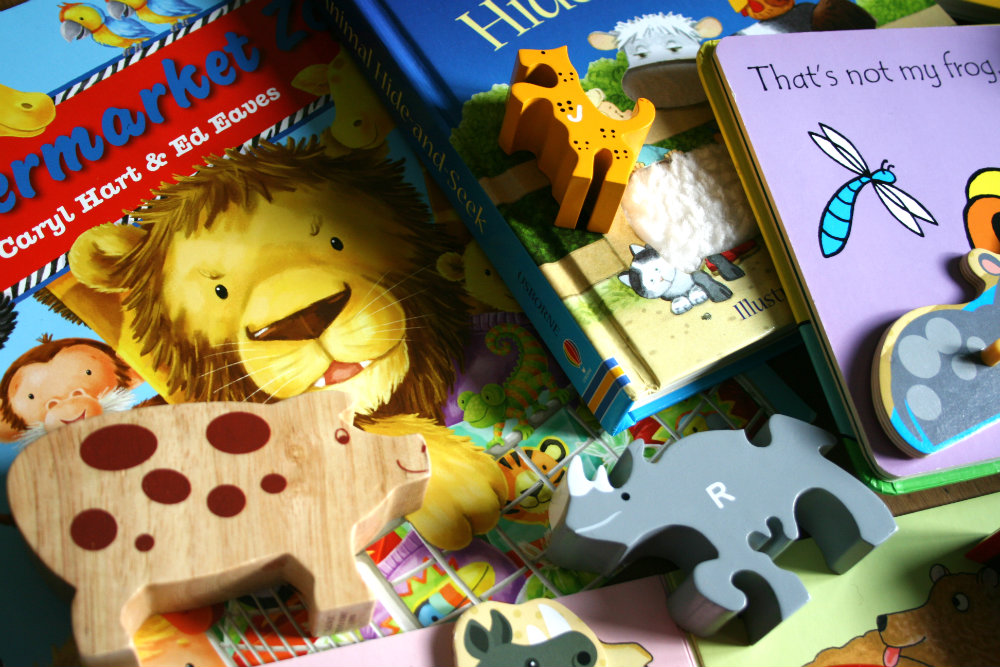 Animal Toys and Books