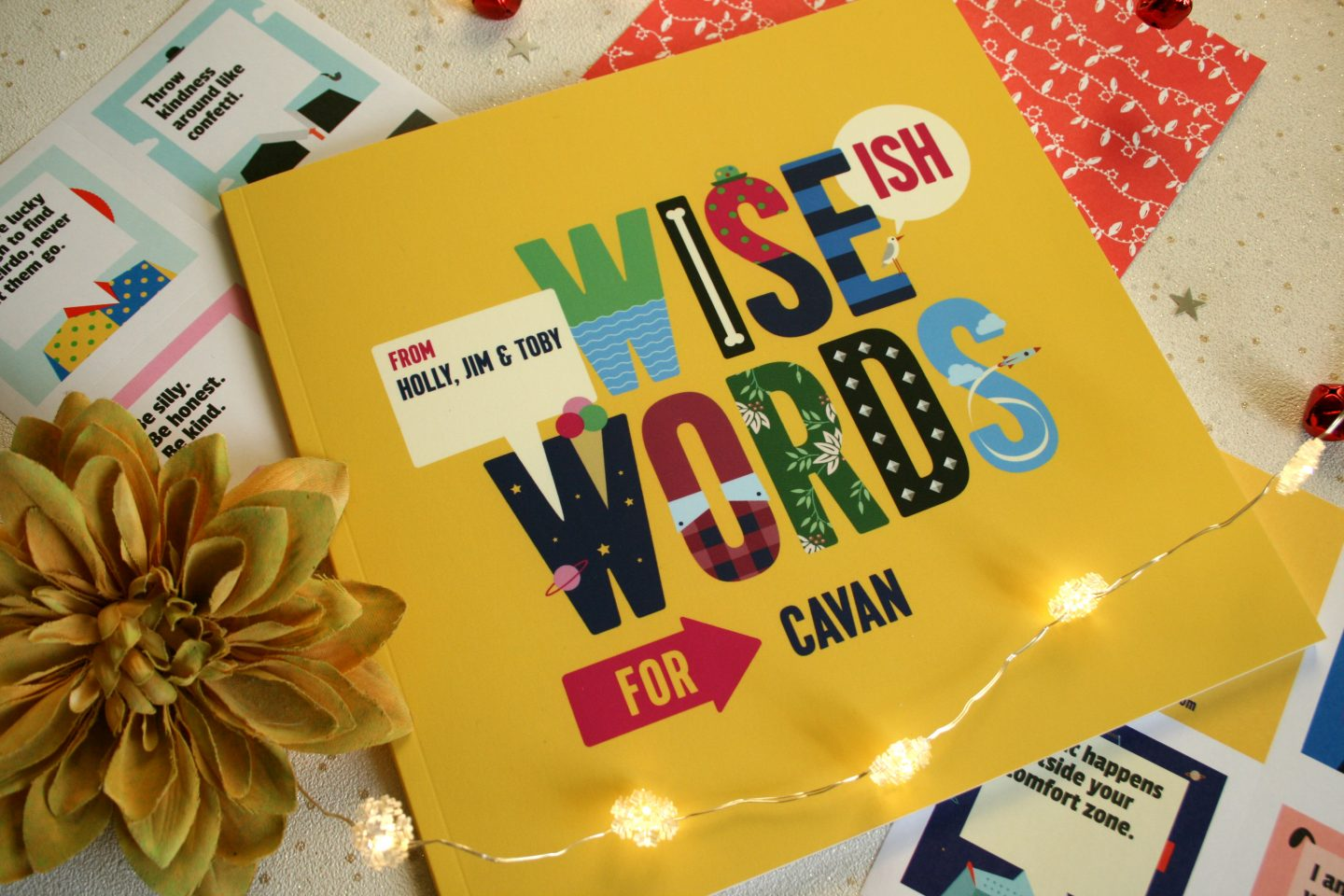 Wise Words Book of Everyone Personalised Christmas Gift