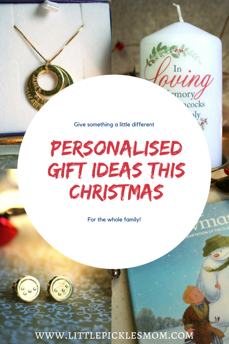 Personalised Gift Ideas for all the family - including jewellery, books and memorial candles. Some unique and quirky gift ideas from Little Pickle's Mom