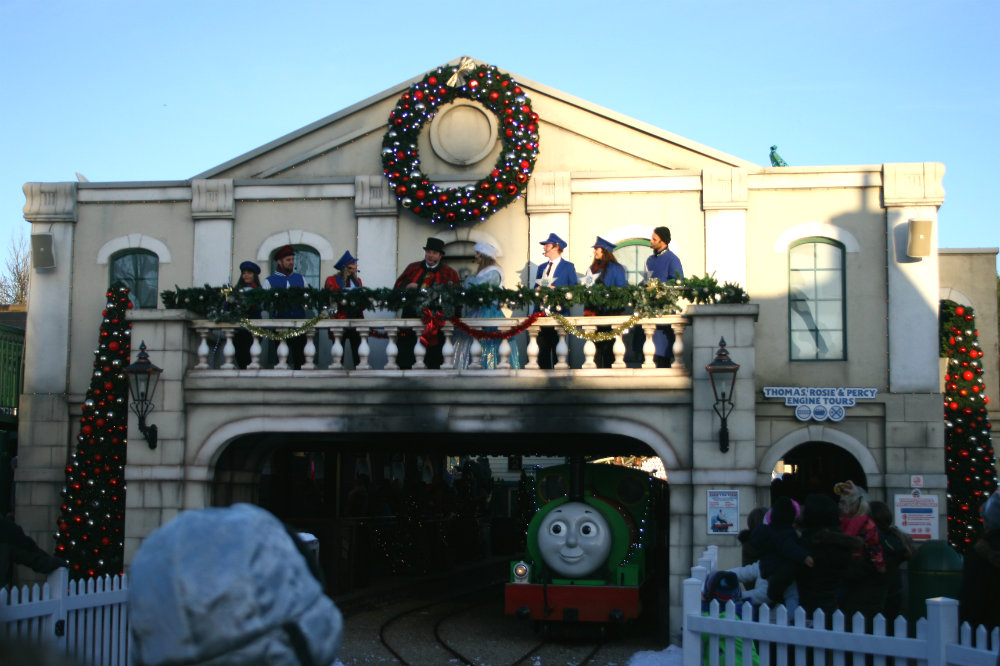 Festive Performance at Thomasland with James decorated