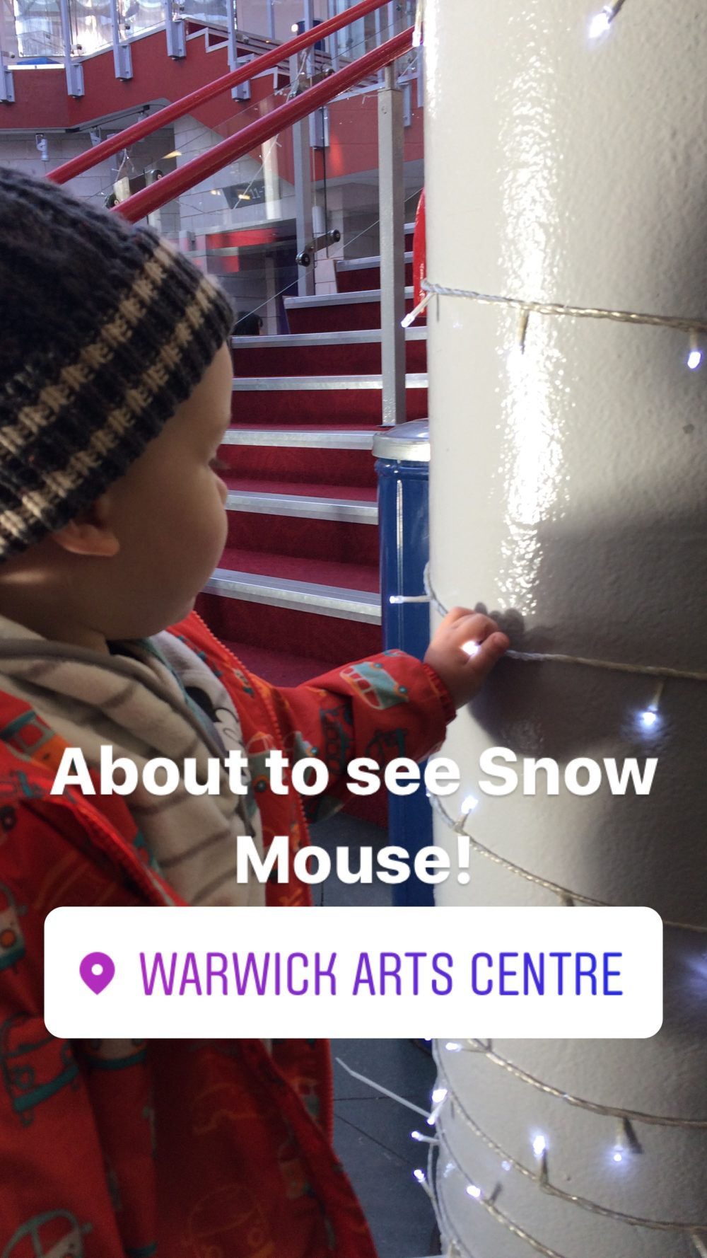 Instagram Story from day out to see Snow Mouse