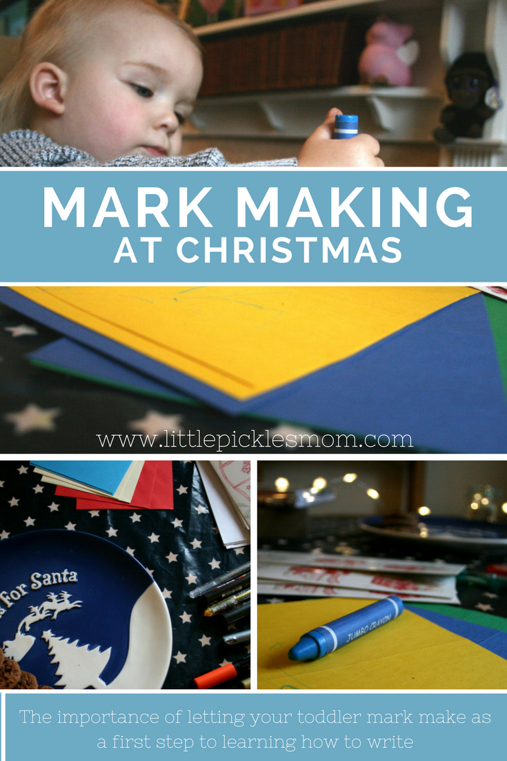 How early should we be encouraging mark making? As early as possible! Try letting your baby or toddler scribble on Christmas cards this year to help get them used to mark making and learning how to write - scribbles are the first step.