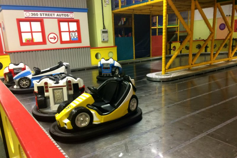 The bumper cars at 360 Play Redditch