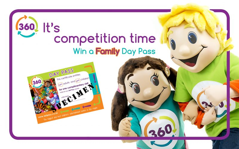Competition for a Family Day Pass at 360 Play