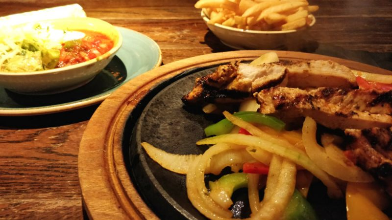 Chicken Fajitas at Chiquito Rubery Birmingham