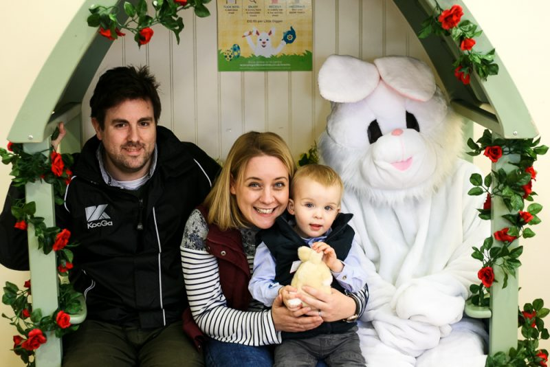 Family photo with the Easter Bunny