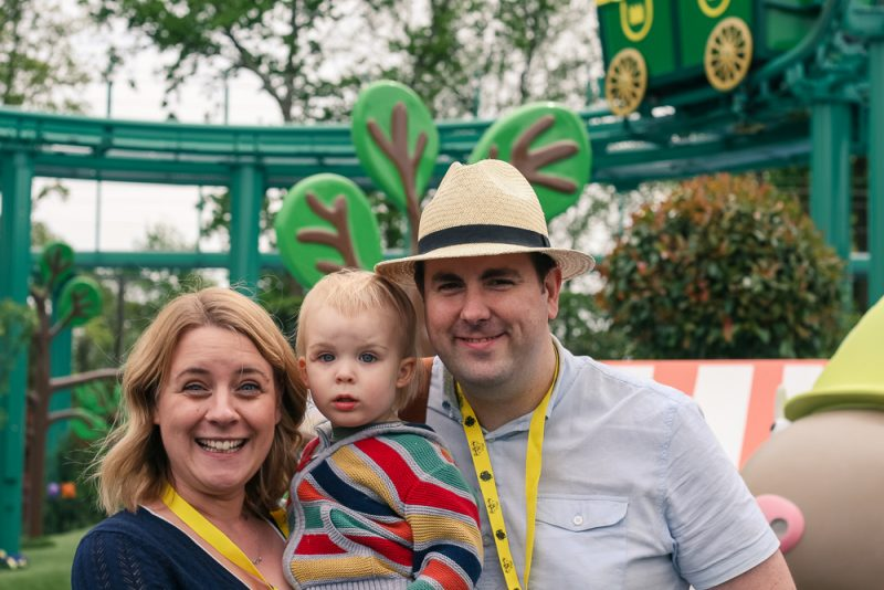 Family photo at Peppa Pig World