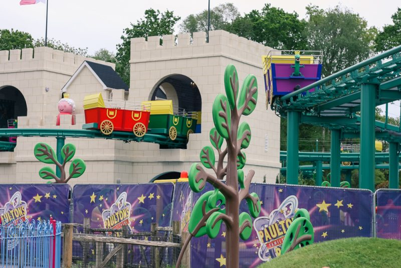 The new Queen's Flying Coach Ride at Peppa Pig World