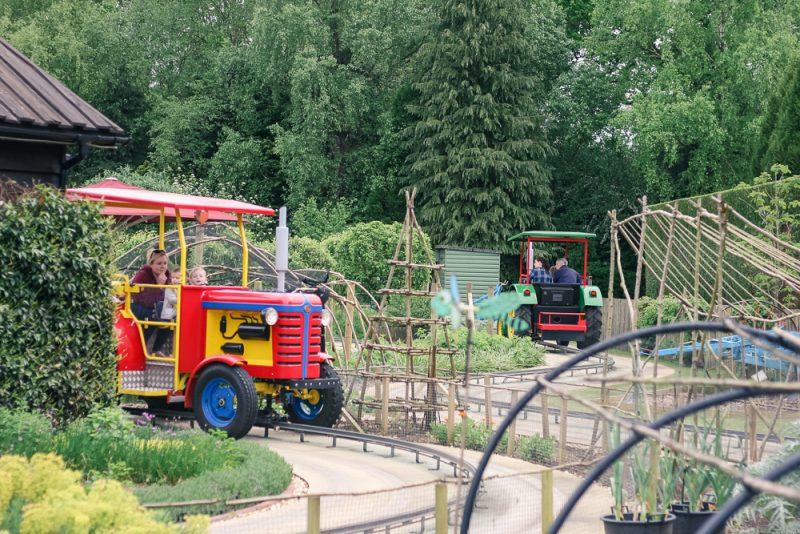 Trekking Tractors ride at Peppa Pig World, Paulton's Park