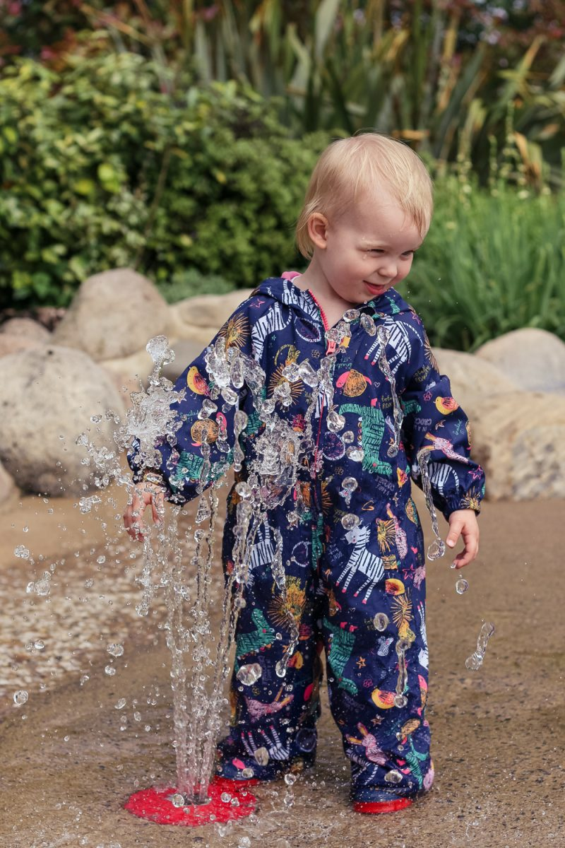Puddle suit came in handy at Slimbridge on the Water Park with Pickle