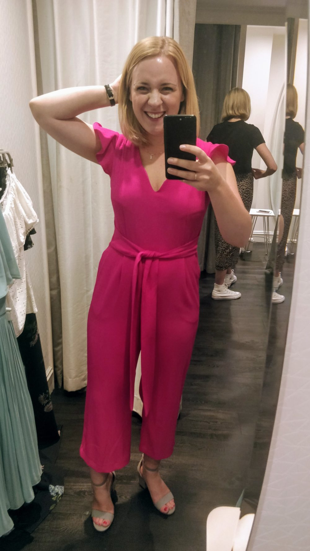A pink jumpsuit? Can I pull it off? Oasis Fashion