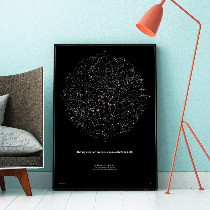 Greater Skies map of the sky as a perfect Father's Day gift