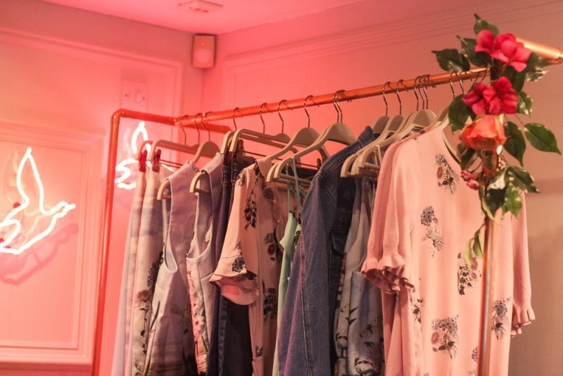 Oasis Clothes Fashion Rail at BrumBloggers event