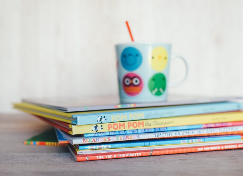 A Pile of children's books ready for learning and school