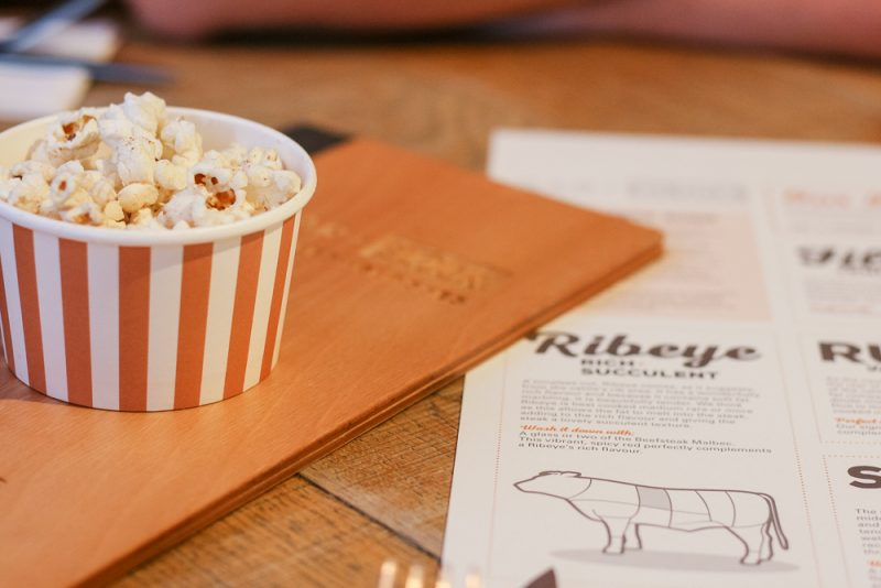 Beef dripping popcorn at Bar + Block Birmingham