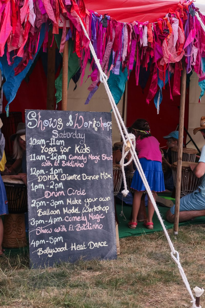 Show and workshops at Cornbury Festival kids area