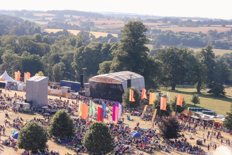 Cornbury Festival from a height
