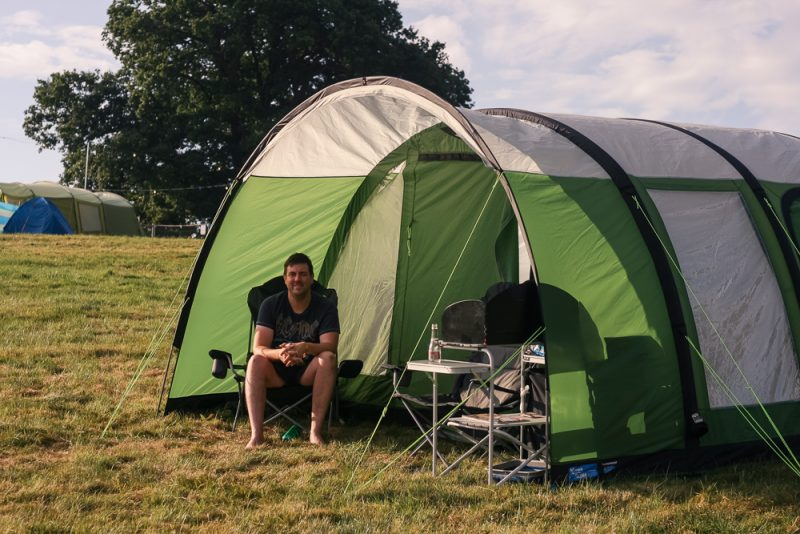 Our Kampa Paloma 5 Air tent at Cornbury Festival