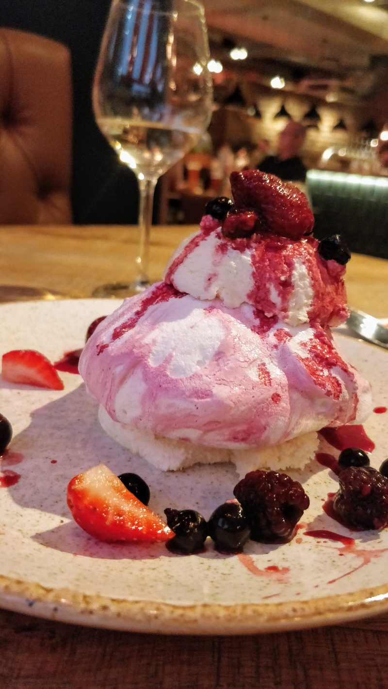 Mixed Berry Pavlova at Bar + Block Birmingham