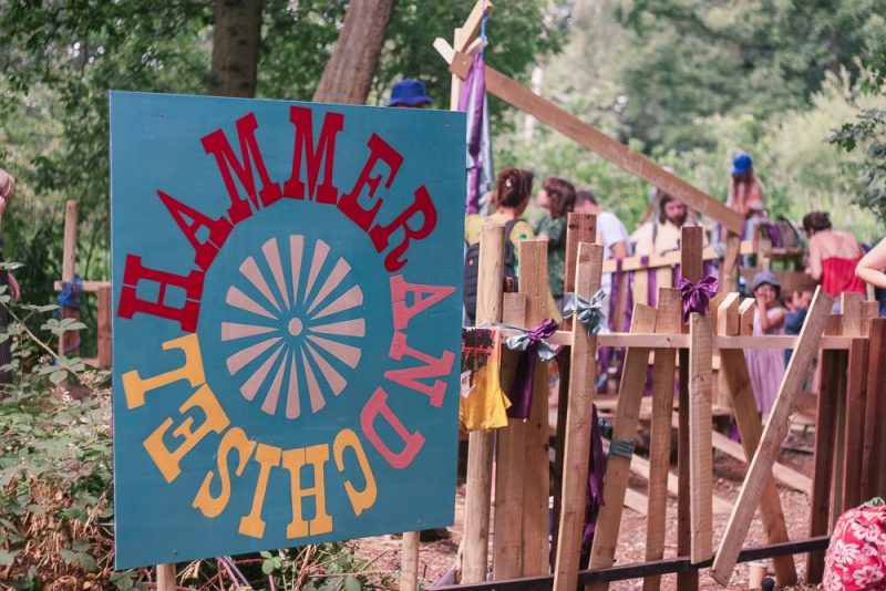 Hammer and Chisel playarea at Timber Festival