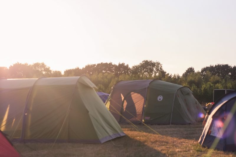 Sunsetting over the Timber Festival camping field