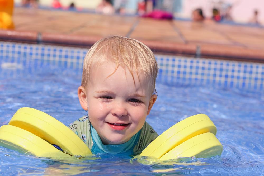Pickle in the pool at Trevornick