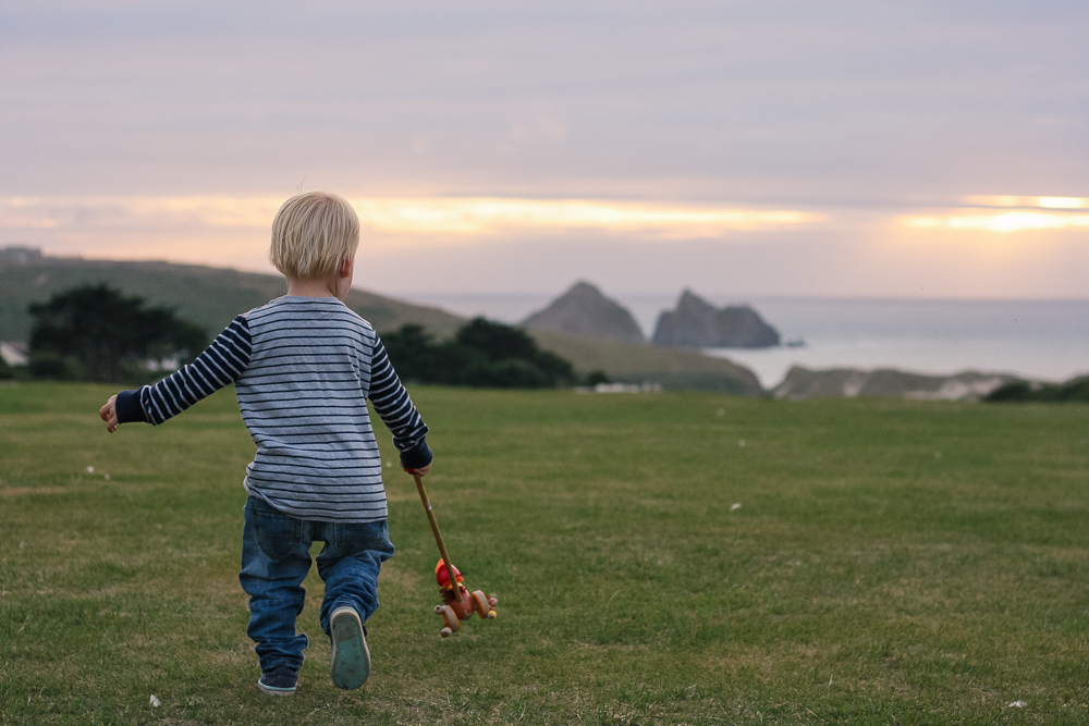 Camping at Trevornick, Cornwall