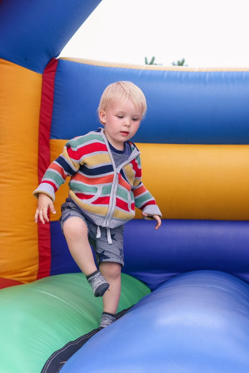 The bouncy castle