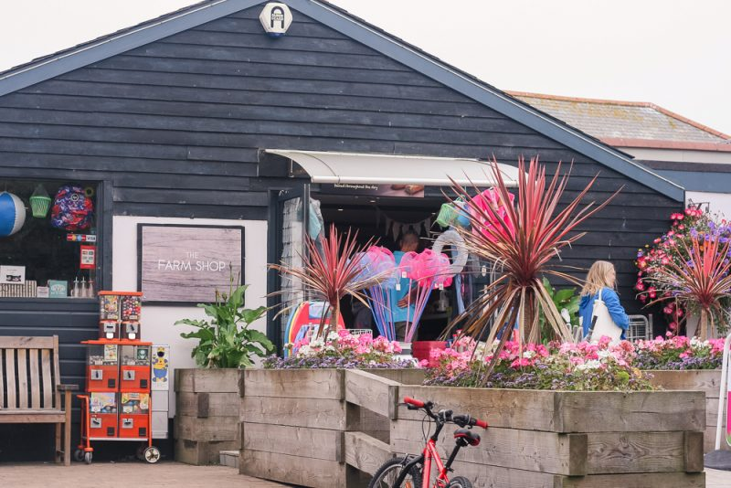 The farm shop at Trevornick Cornwall