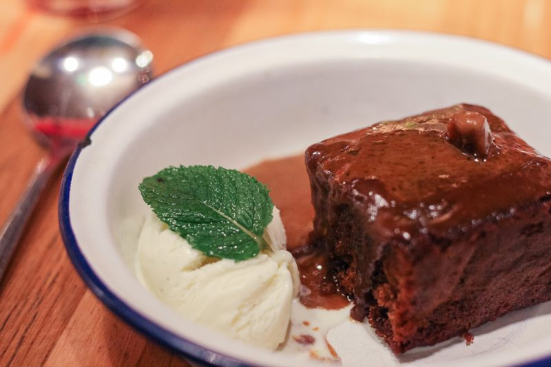 Sticky Toffee Pudding at Turtle Bay in Leamington Spa