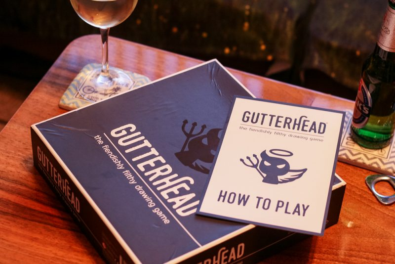 Gutterhead the board game, ready to play on Games' Night