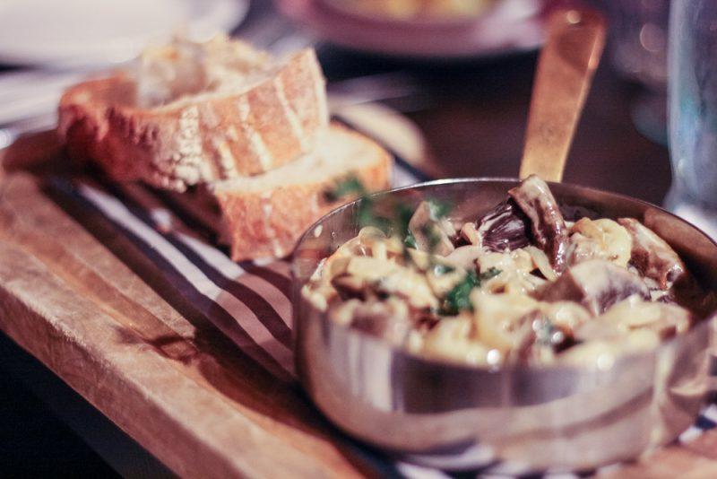 Portobello mushrooms with gorgeous bread