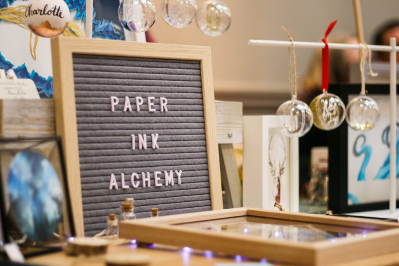 Paper Ink Academy papercuts at the Worcestershire Etsy Market