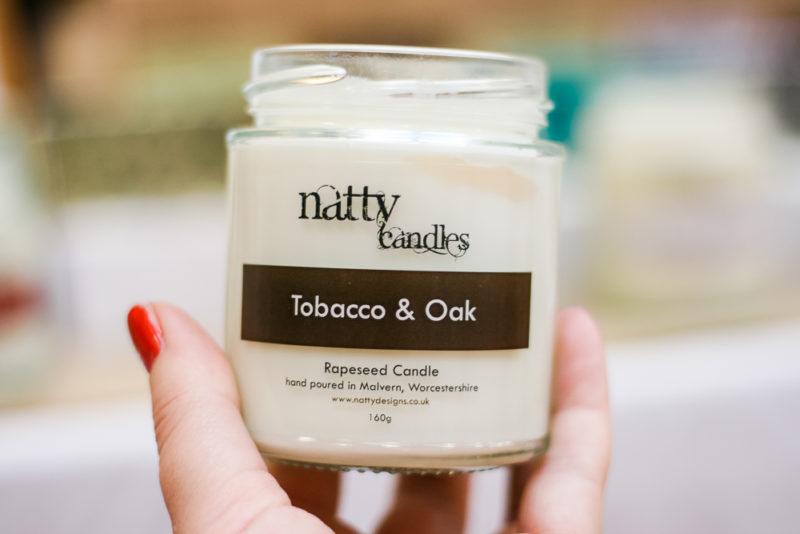 Tobacco & Oak candle by Natty.Designs