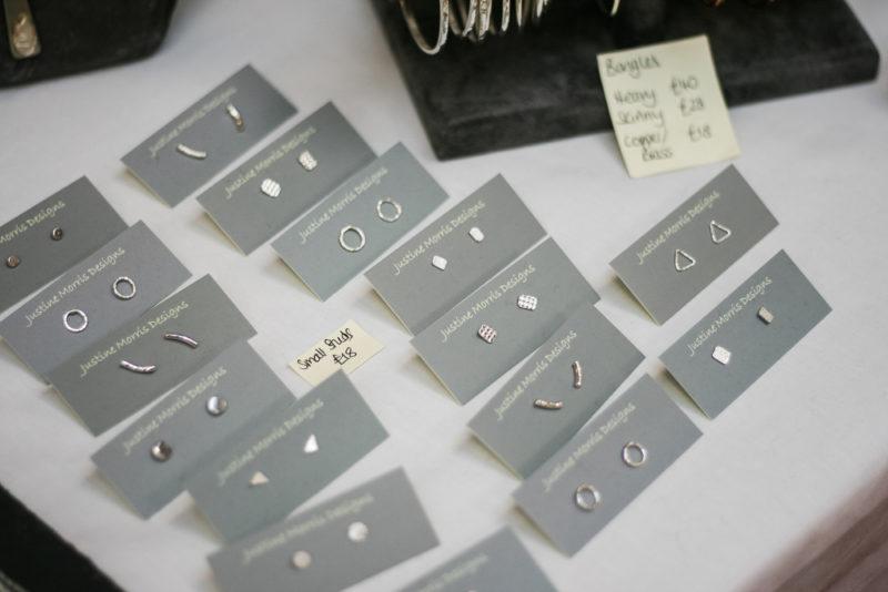 Stud earrings by Justine Morris Designs