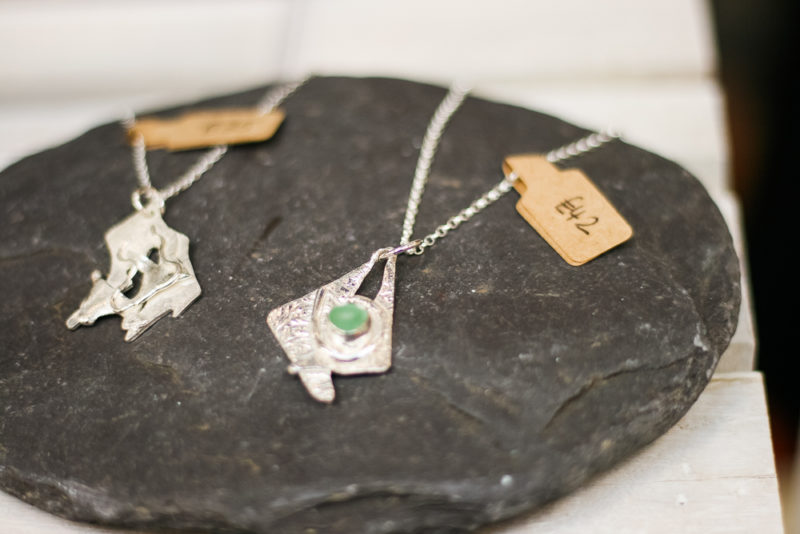 Gorgeous necklace with sea glass gem