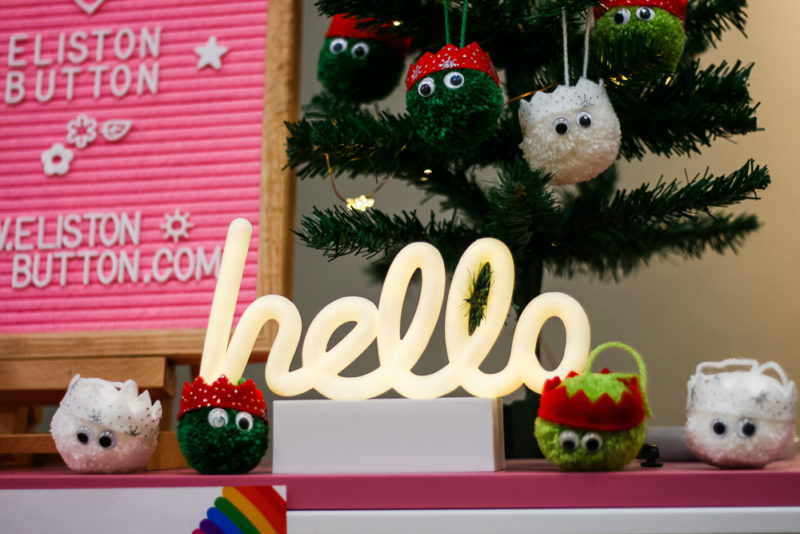 The cutest sprout pompoms handmade by Rachel Eliston