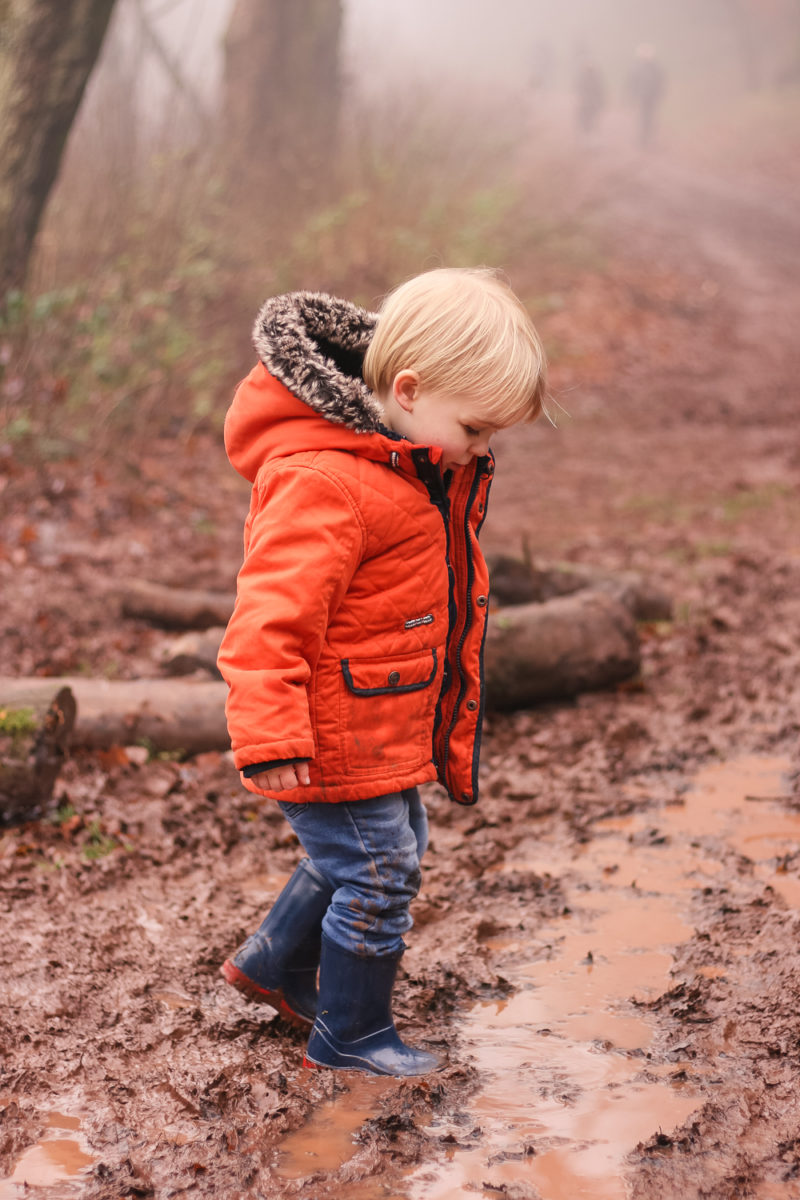 Splashing in muddy puddles up the Clent Hills