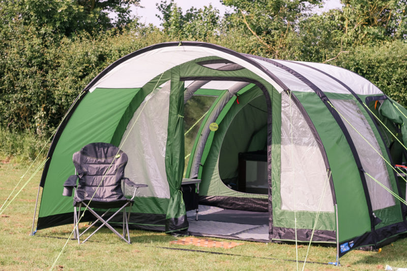 Kampa Paloma 5 Air tent at Hogsdown Farm Gloucestershire over bank holiday weekend