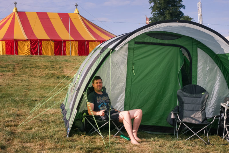 Our Kampa Pakoma 5 Air Tent at Cornbury Festival