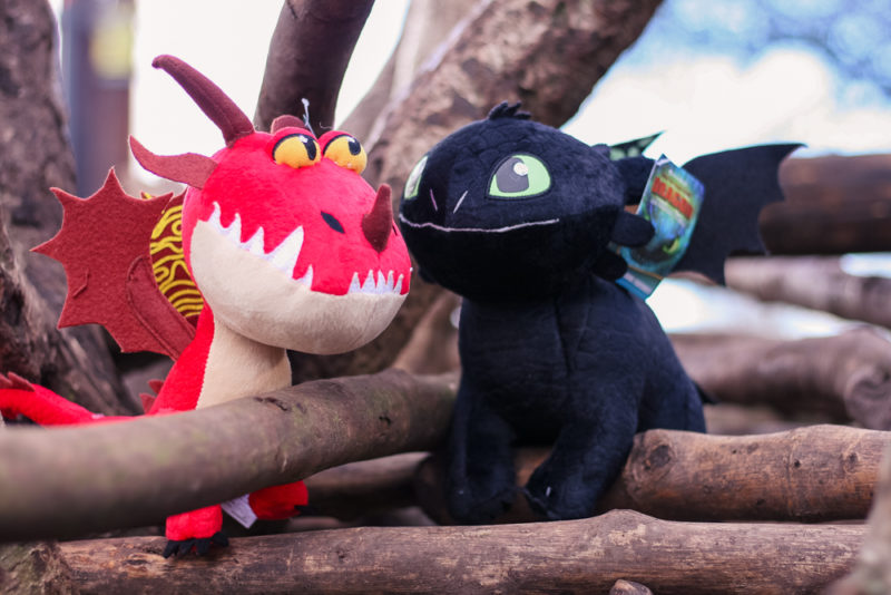 Hookfang and Toothless in some twigs