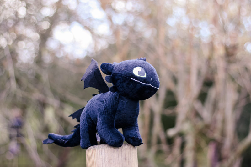 Toothless on a post