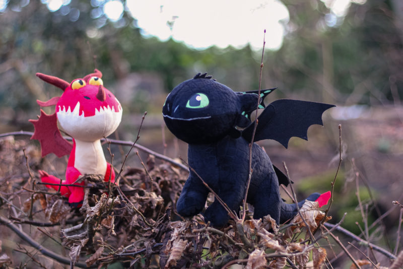 Toothless and Hookfang Dragons from How to Train Your Dragon medium plushes