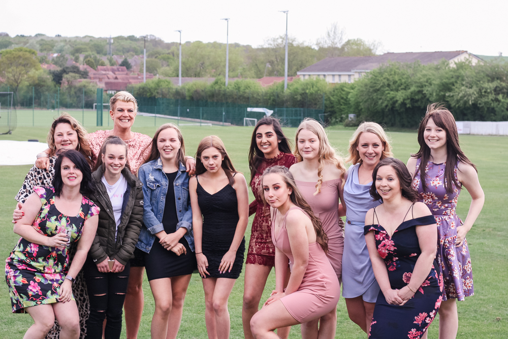 Ladies 2nd team at Redditch Hockey Club at Awards Night 2019