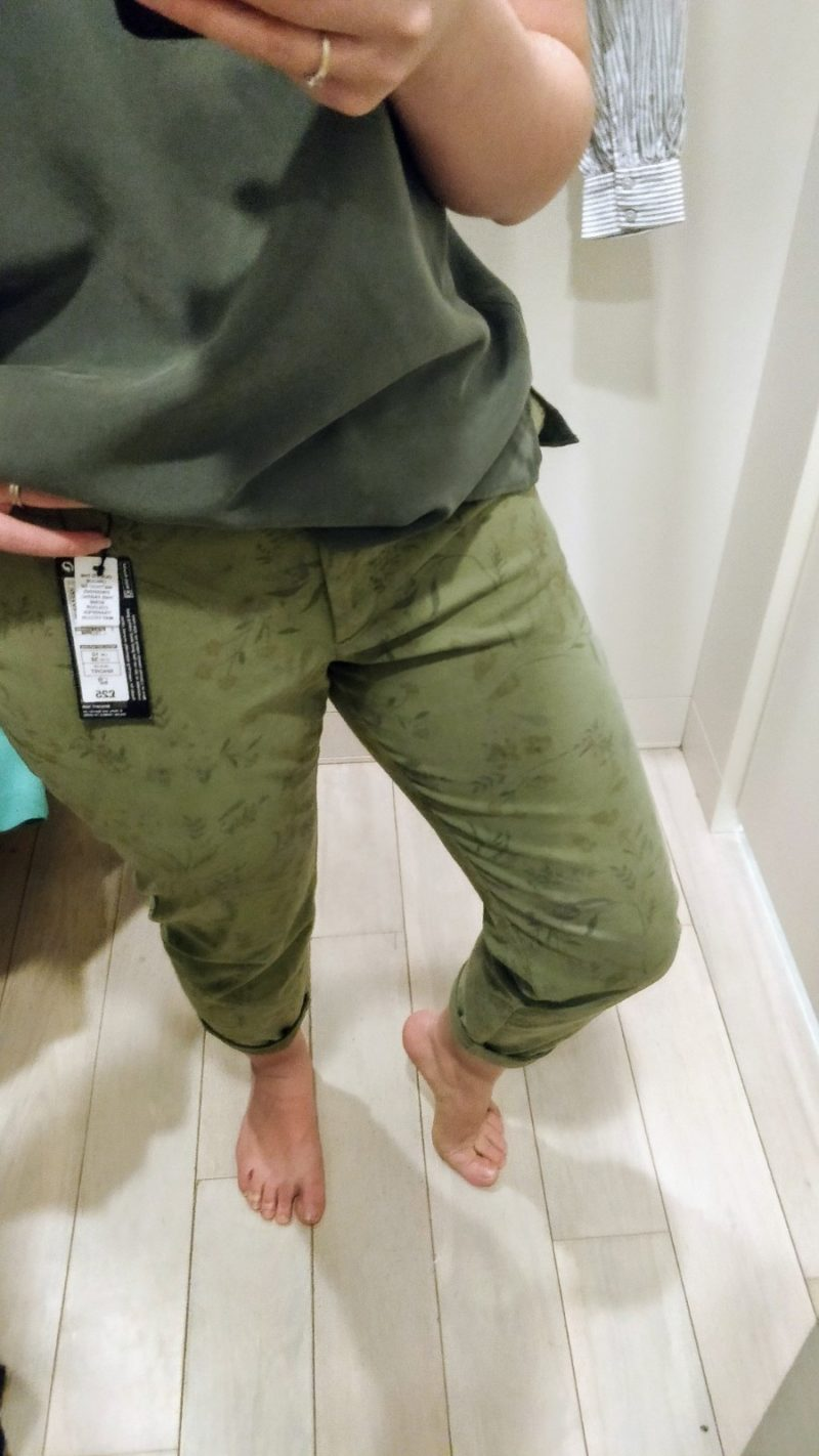 Green patterned chinos from Marks & Spencer