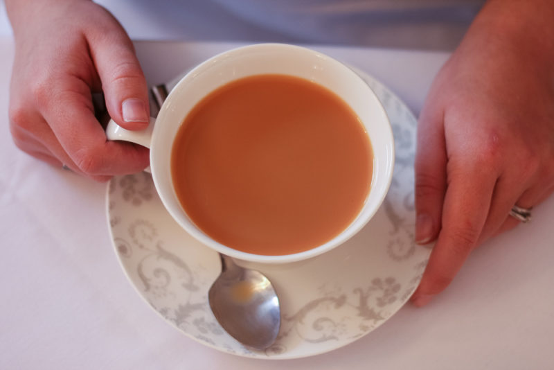 Birds eye view of my Cup of tea at Laura Ashley The Tea Room